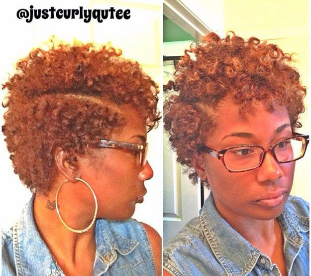 A Deep Side Part | 20 Effortless Styles For Growing Out Your Natural Hair