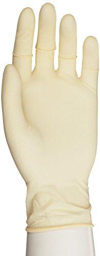 "Microflex Diamond Grip Latex Glove, Powder Free, 9.6"" Length, 6.3 mils Thick, Medium (Pack of 100)"