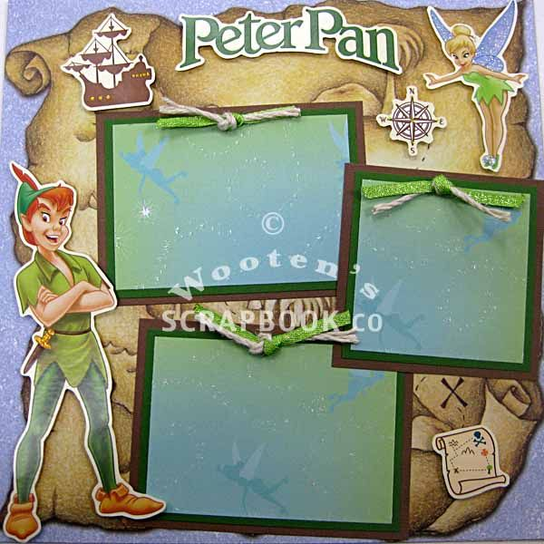 Peter Pan Scrapbooking Page Idea