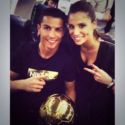 Lucia Villalon with Cristiano Ronaldo photo