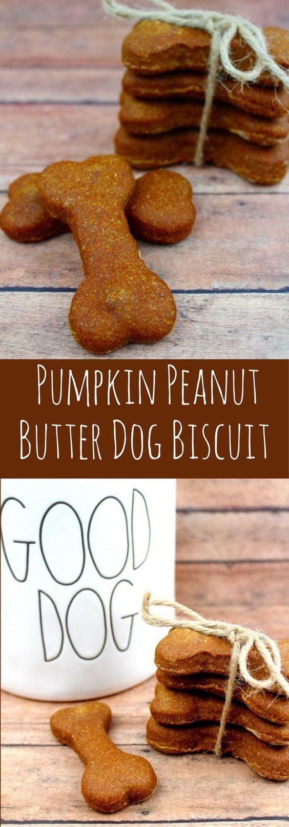 Homemade Pumpkin Peanut Butter Dog Biscuit Recipe- Easy Homemade Dog Biscuit recipe- Peanut Butter dog biscuits #dogbiscuitrecipe