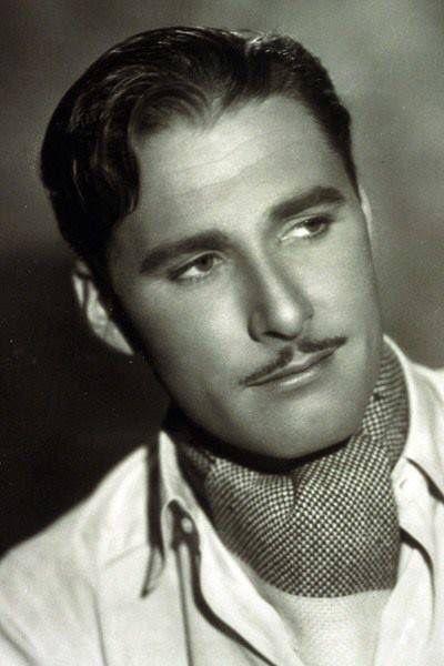 The dapper chap . Pencil moustache
