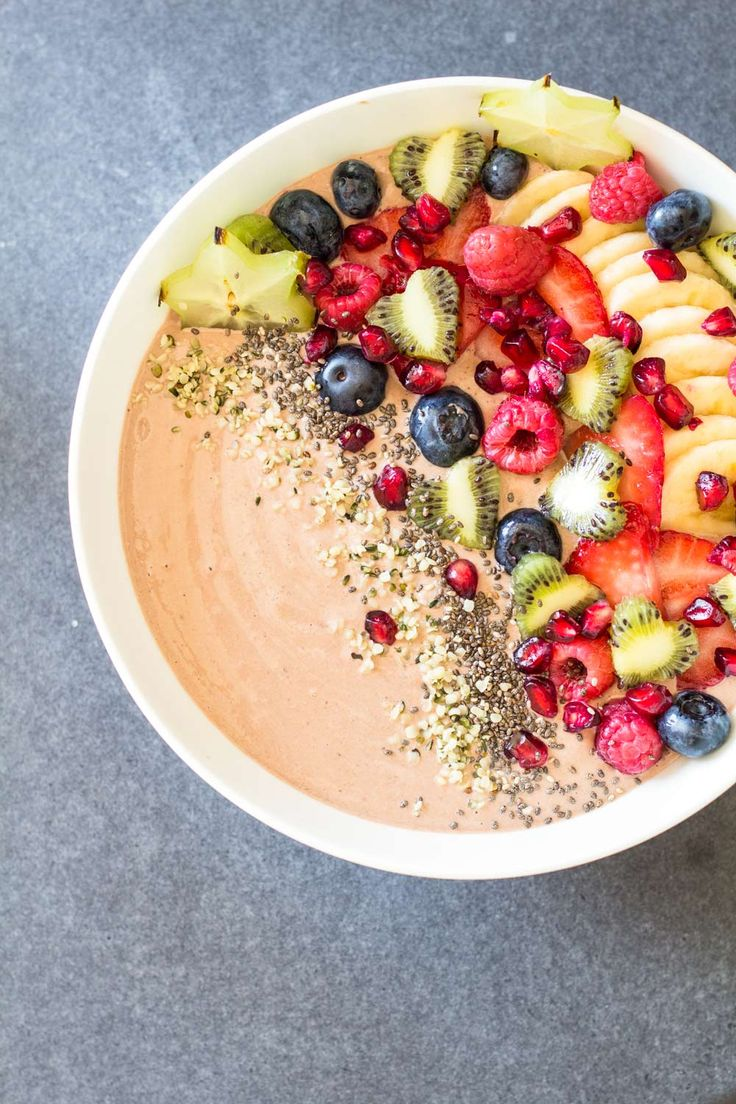 A heavenly, grain-free and gluten-free Chocolate Smoothie Bowl that will knock you off your feet. The best energizing healthy breakfast you've had in weeks!