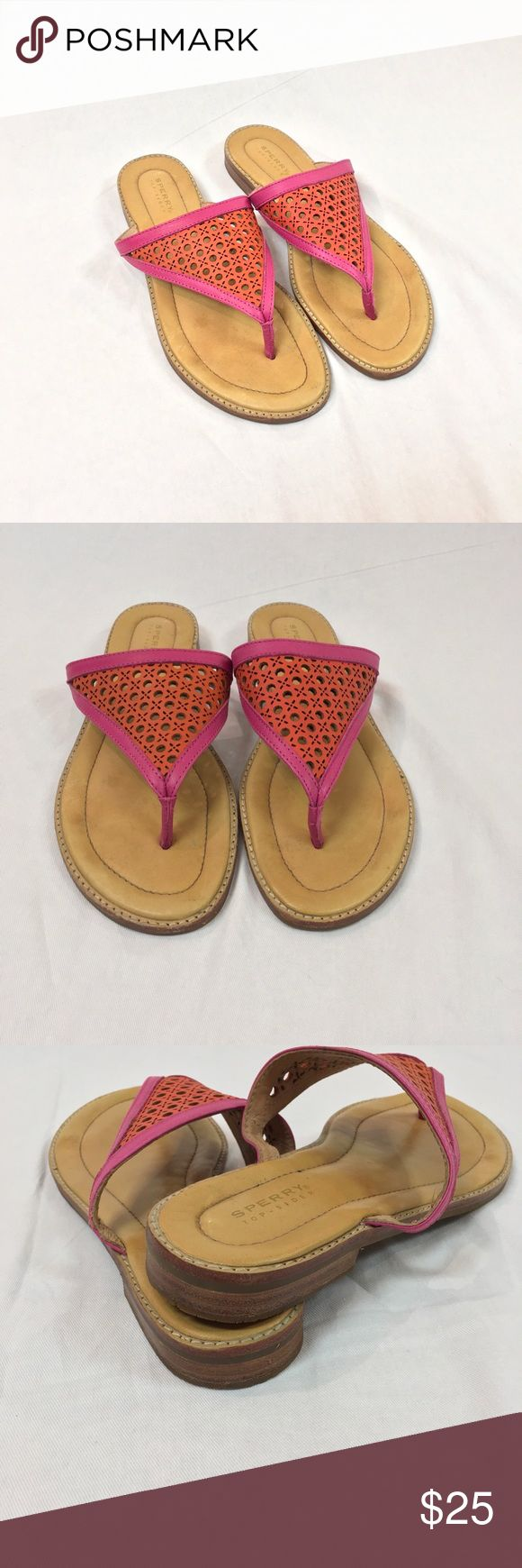 Sperry Sandals Super cute pink and orange sandals from Sperry! Good condition, some normal wear and leather darkening. Women's size 7.5. Sperry Shoes Sandals