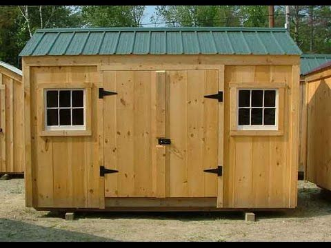 6x8 Sheds | 6x8 Shed Plans | Post and Beam Sheds