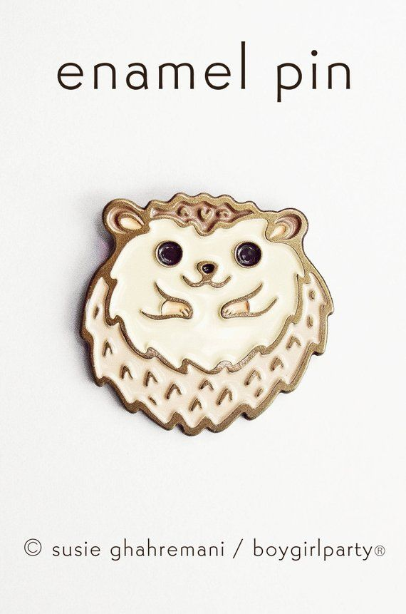 Enamel pins HEDGEHOG lapel pin, aesthetic pin badge, hat pins
