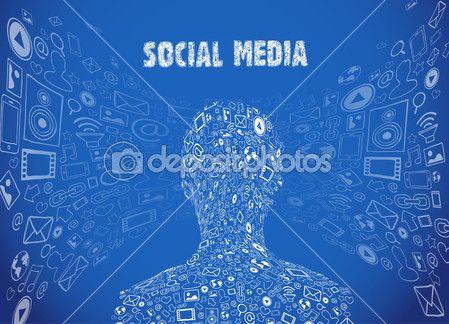 иллюстрация социальных медиа — Векторная картинка #27958145