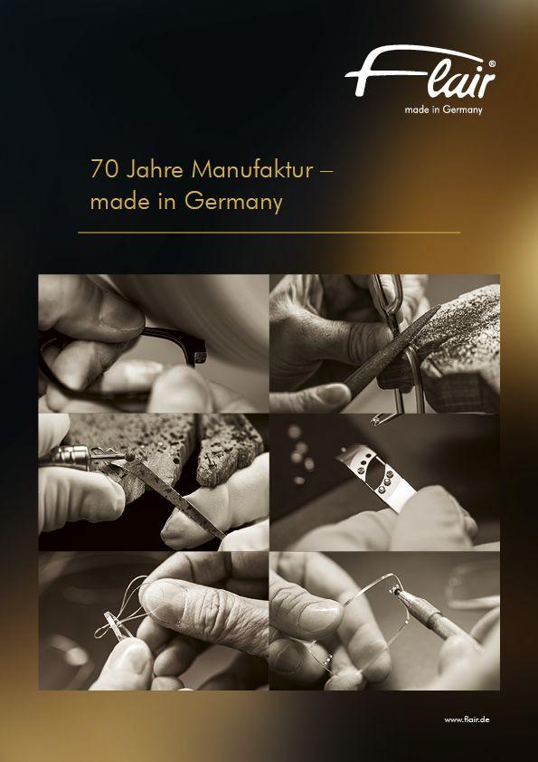 Die Brillen-Manufaktur Flair 70 Jahre made in Germany