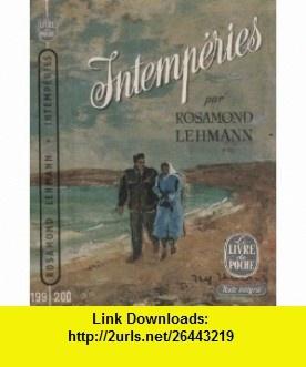 Intemp�ries Rosamond Lehmann ,   ,  , ASIN: B004F77EFI , tutorials , pdf , ebook , torrent , downloads , rapidshare , filesonic , hotfile , megaupload , fileserve