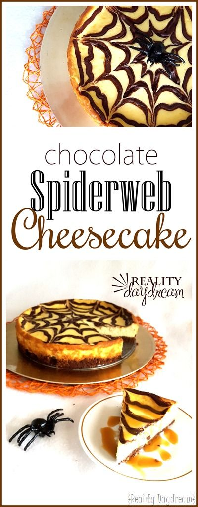 Chocolate Spider Webb Cheesecake... perfect Halloween Dessert! (and easier than…