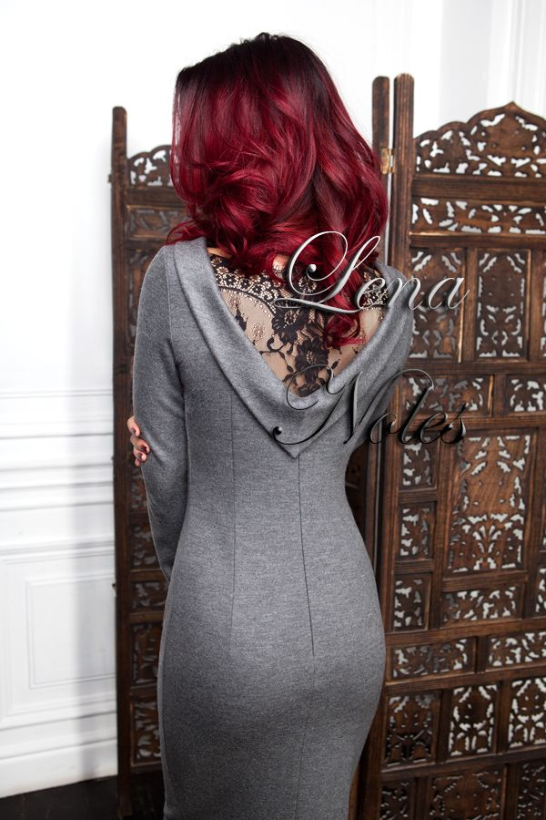 Серое платье с кружевной спинкой 46 р от Lena Noles за 18 000 руб. с доставкой