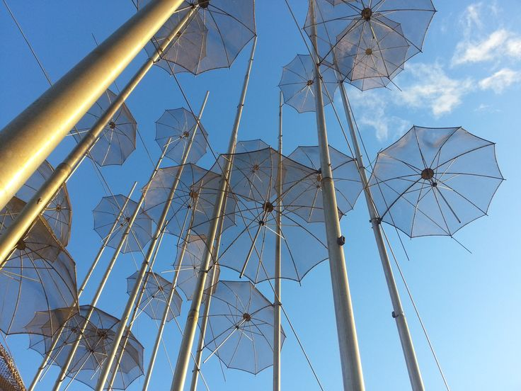 """The most popular spot in Thessaloniki at the seafront to take photos is at the """"Umbrellas""""-sculpture of known artist Giorgos Zogolopoulos. You can find it near the Makedonia Palace Hotel. http://www.omilo.com/thessaloniki-some-secrets/"""