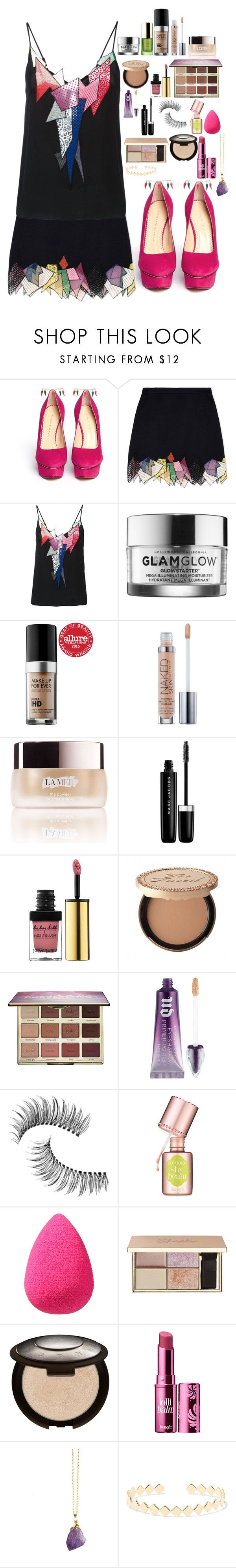 """""""Sin título #756"""" by hpf1102 ❤ liked on Polyvore featuring Charlotte Olympia, Christopher Kane, Tata Harper, GlamGlow, MAKE UP FOR EVER, Urban Decay, La Mer, Marc Jacobs, Yves Saint Laurent and tarte"""