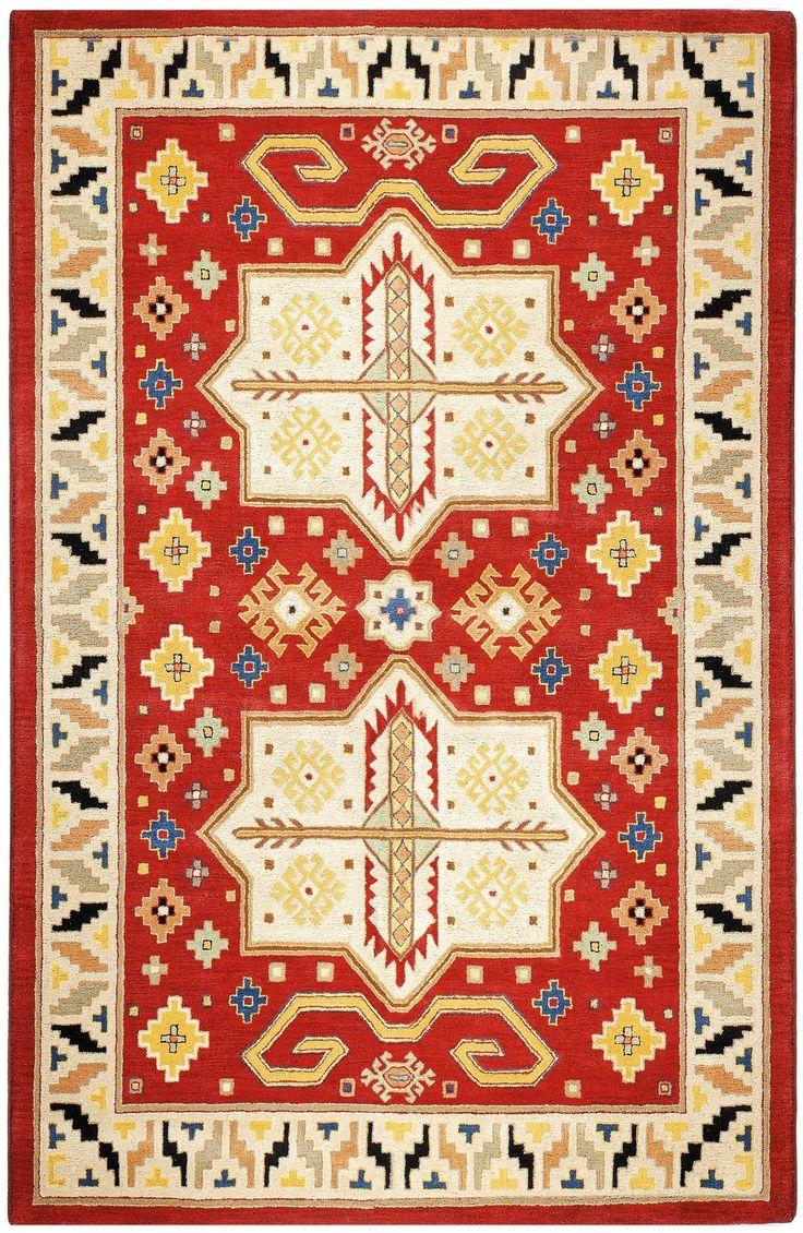 Traditions Virtu Red Rug