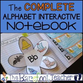Back to School: The Complete Alphabet Interactive Notebook   Students will practice identifying, sorting,writing both upper and lower case letters, and producing sounds in this fun, engaging, and absolutely adorable Alphabet Interactive Notebook Complete Set.   Two cover pages have been included-one with a boy character and one with a girl.