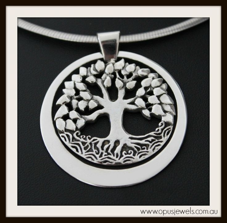 Tree of Life Pendant - movable outer ring - solid sterling silver