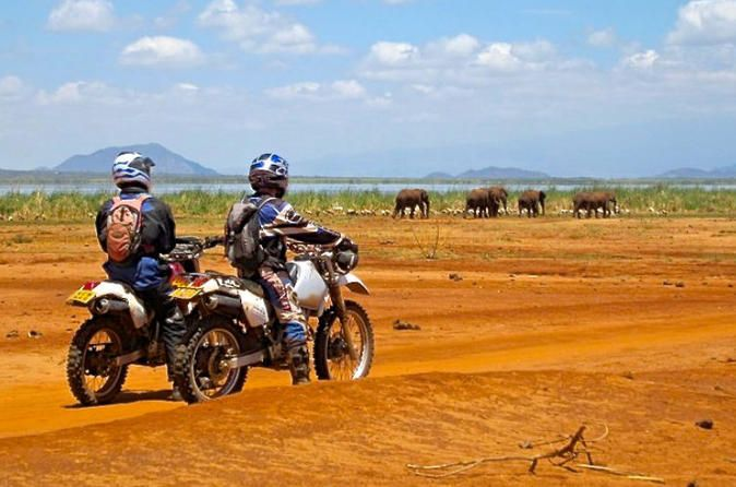 10 Day South Kenya Tour by Off Road Motorcycle Guided motorcycle tours in South Kenya, an ultimate off road experience, an amazing way of discovering African Masai people and their culture. A unique encounter with African wildlife, see from your motorcycle giraffes, zebras, antelopes, ostrich.For accommodation; bush lodges, tented camps, bungalows and cottages in the middle of nowhereExplore by motorcycle the Great Rift Valley up to Kilimanjaro Masai land through Amboseli, Tsa...