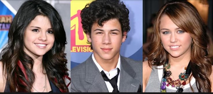 The ❤ triangle: Selena Gomez, Nick Jonas and Miley Cyrus