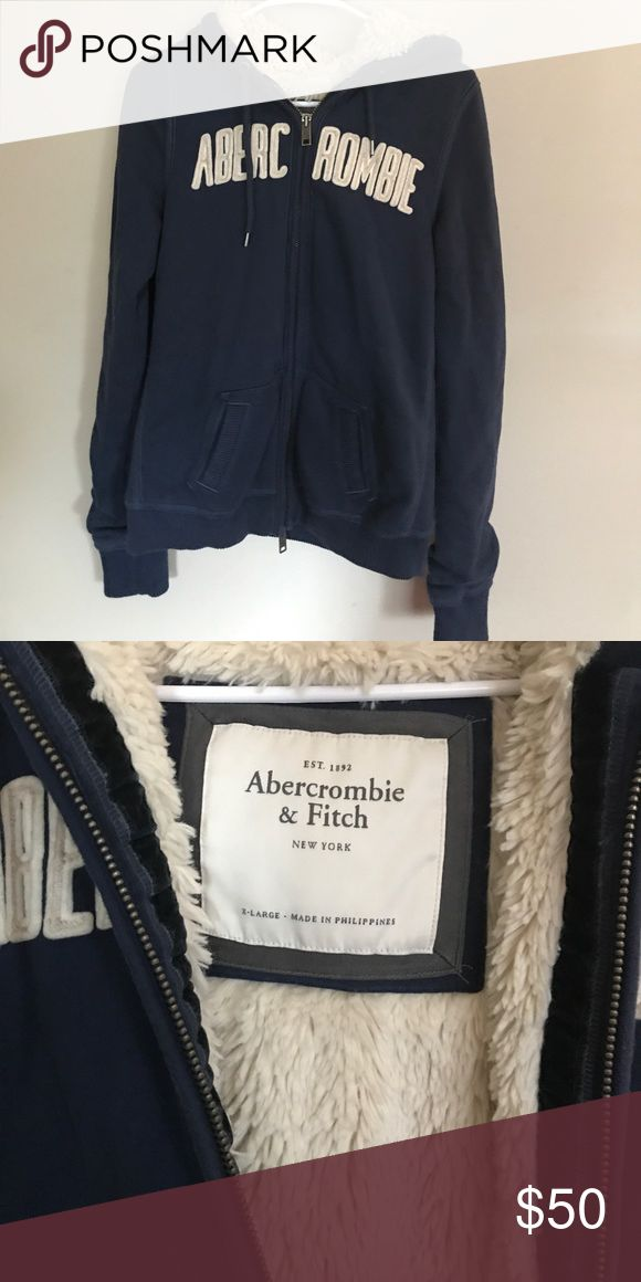 Abercrombie fur lined hoodie Great condition Abercrombie & Fitch Tops Sweatshirts & Hoodies