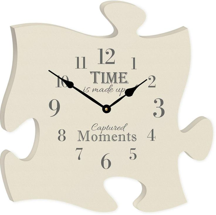 The Time Clock Puzzle Piece | Puzzle crafts, Puzzle piece ...