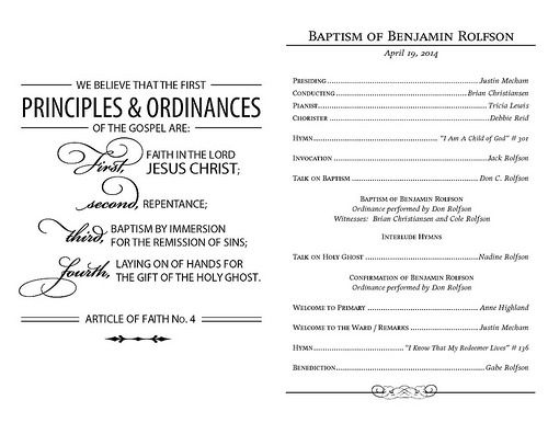 Best  Lds Baptism Program Ideas On   Baptism Program