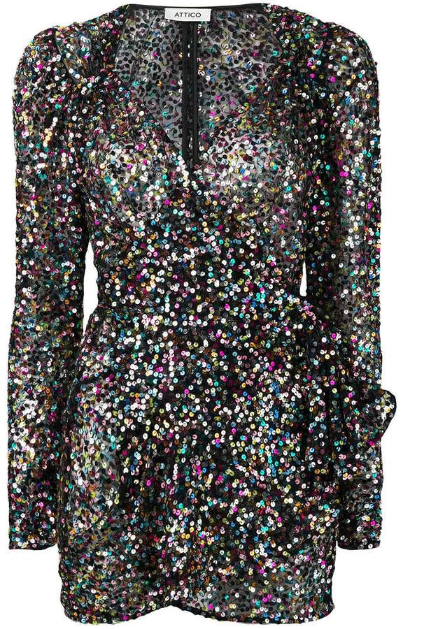 1278d4cdede45 ATTICO Sequined mini pat dress in 2019 | Products | Dresses, Sequins ...
