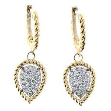 Roberto Coin 18k Diamond Owl Drop Earrings GfxOl