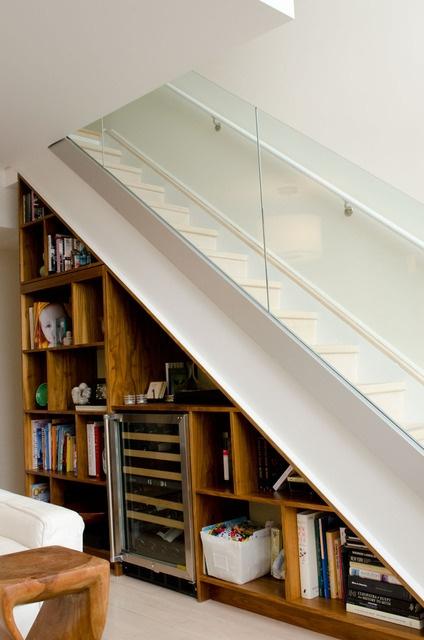 stairs; glass railing