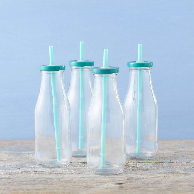 Milk Bottle & Straw