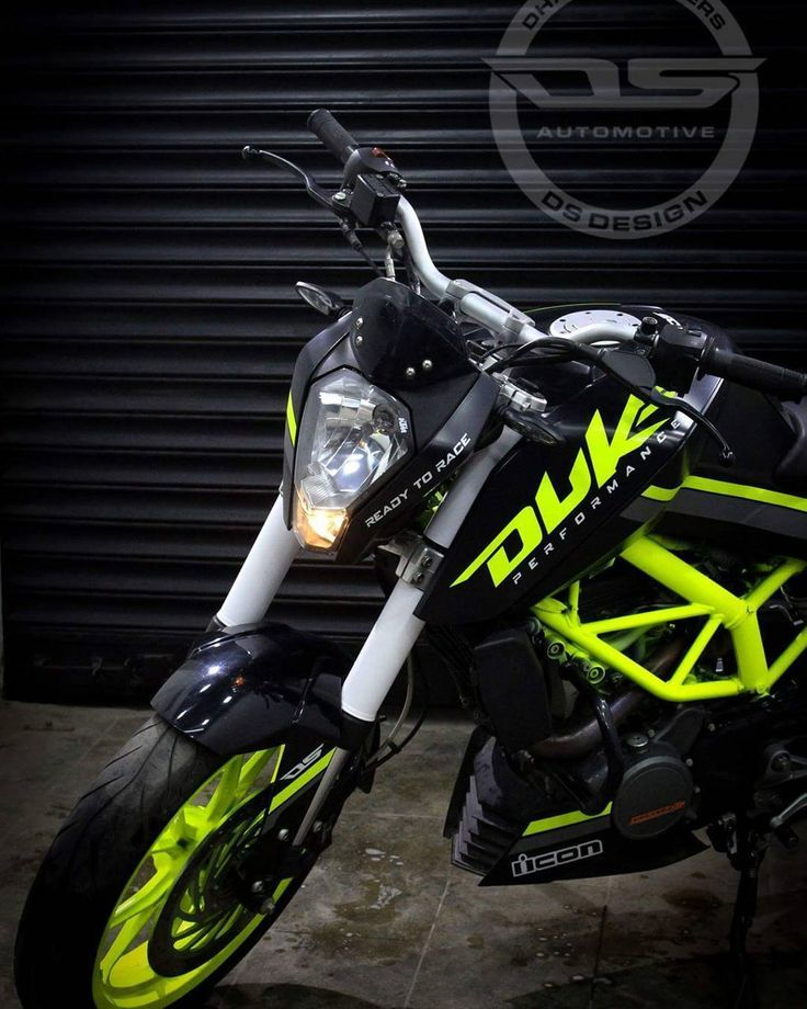 New Ktm Duke 200 Modified Black Fluorescent Green 2017