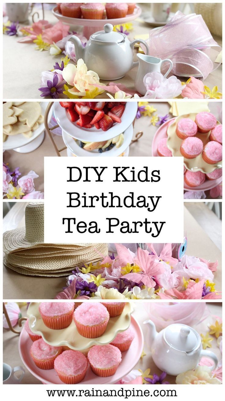 A fancy tea party diy budget friendly birthday parties