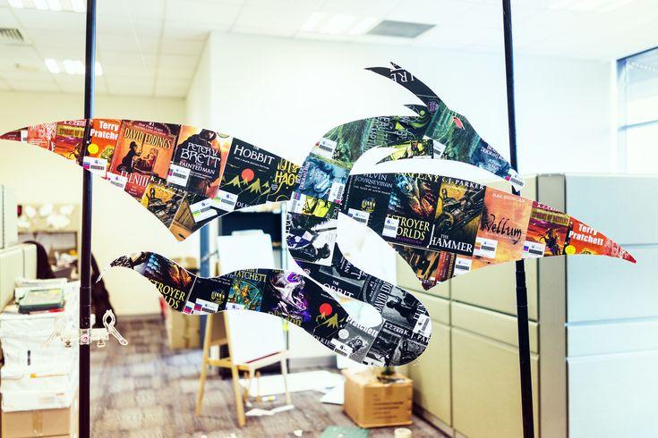 Fantasy themed dragon book display | 027.8 | Pinterest ...