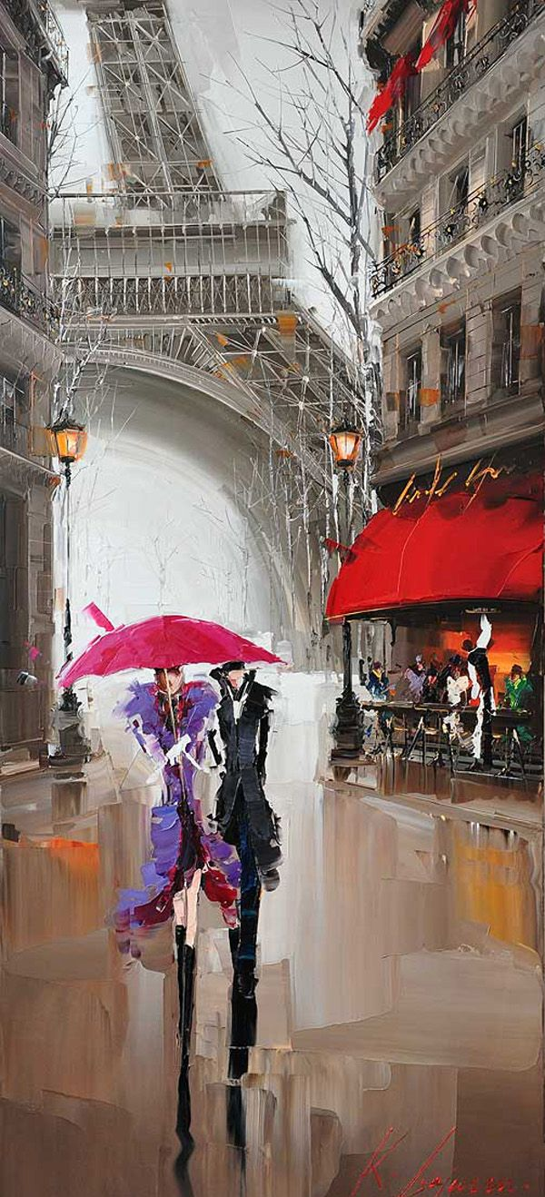 Cityscapes Painting ~ by Kal Gajoum