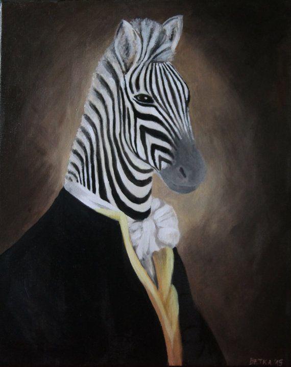 Mr. Zebra acrylic painting