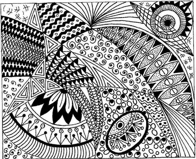Zen Line Drawing : Zentangle mehndi doodle pinterest