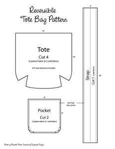 free tote bag pattern MXS