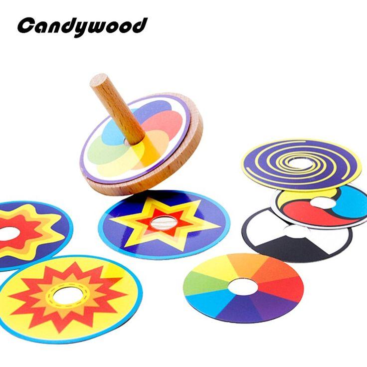 Mainan kayu Lucu Colorful Beyblades Beyblade Mainan Berputar Atas dengan 8 Menggambar Kartu Klasik Mainan untuk Anak Anak