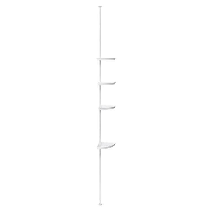 3 basket tension pole shower caddy white room essentials