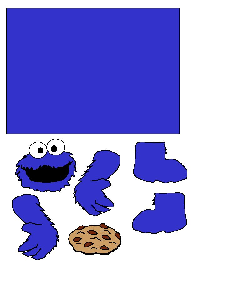 Cookie Monster Toilet paper craft