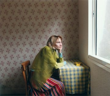 Elina Brotherus (Finnish). Le Printemps. Dimensions: 70x80cm | Year: 2001 | Edition:6. Channeling Vermeer, here?
