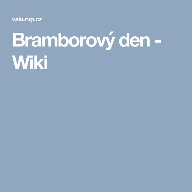 Bramborový den - Wiki