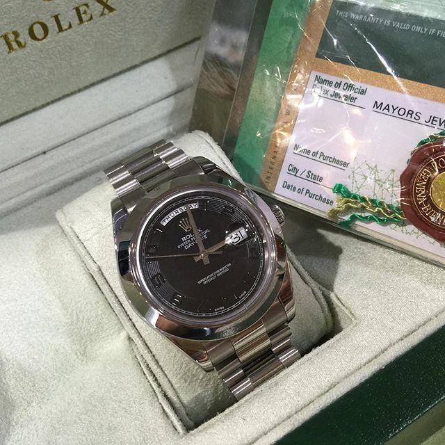 Jam Replika Rolex Daydate 2 Steel Black Ultimate Clone 1 1 Dgn Aslinya | WA 081283098098 | Harga Rp 6480000