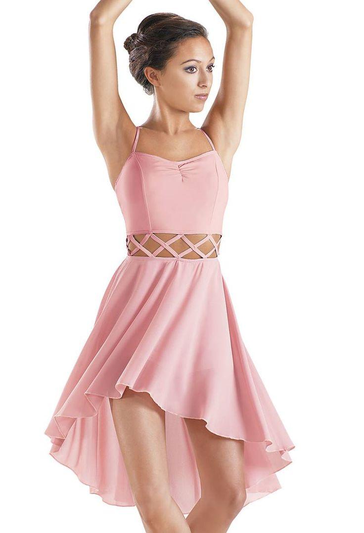 High Low Criss Cross Cut Out Dress Balera Dance