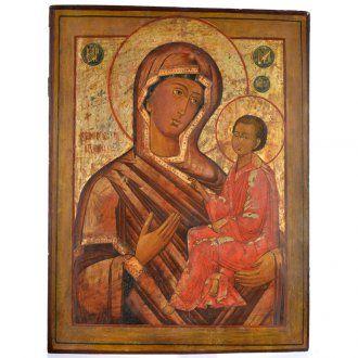 Alte russische Ikone Gottesmutter Tichvinskaja 19. Jh. | Online Verfauf auf HOLYART