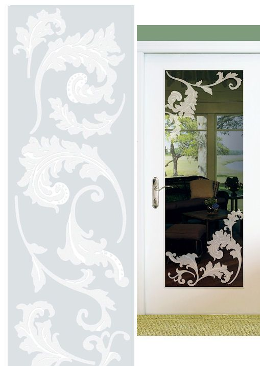 Peel And Stick Mirror Glass | Scroll Etched Glass Peel And Stick Wall  Sticker   Wall