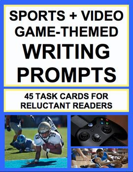Sports & Video Game-Themed Activities for ANY Text: Engage Reluctant Readers!! Have unmotivated (male) students Enjoy 25 sports & video-game themed reading response activities to teach EVERY single CCSS-aligned anchor standard for Reading Literature using ANY text!! Motivate reluctant reader, struggling learners and unmotivated students with culturally relevant activities