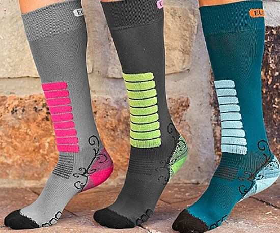 Stocking Stuffers for Runners. Loving the long winter socks with reflective stripes!