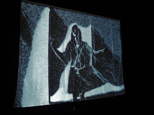"""Snow Mirror"" (2007) by Daniel Rozin by bitforms gallery. ""Snow Mirror"", 2007"