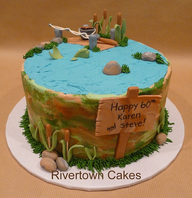 Hunting And Fishing Cakes Boating On