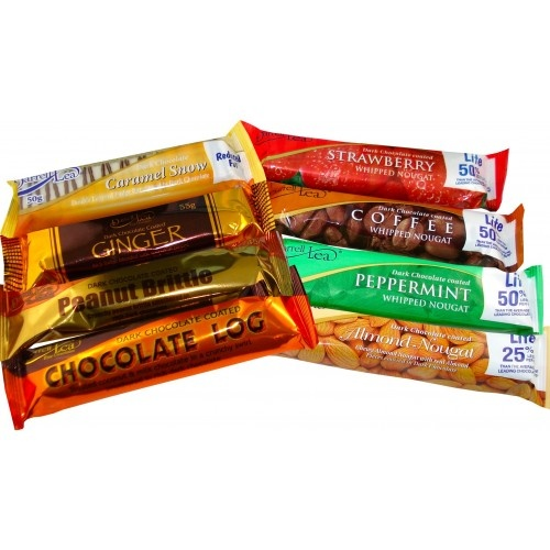 The Darrell Lea chocolate almond nougat bar and choc ginger bar are the most delicious in the world.